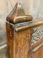 Late 18th Century Box Seated Oak Settle (18 of 19)