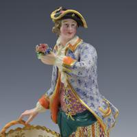 Fine Pair Minton Porcelain Sweetmeat Figures with Baskets Models 84 & 85 c.1830 (19 of 23)