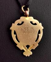 Vintage Art Deco 9ct Gold Shield Fob (8 of 9)