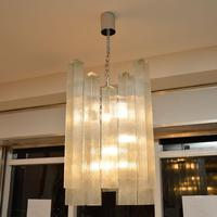 Pair of Large Vintage 1960's Glass Chandeliers by Doria Leuchten (4 of 11)