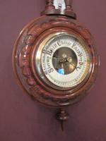 Small Antique Polished Walnut Banjo Barometer (7 of 7)