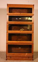 Globe Wernicke Bookcase Called Stacking Bookcase in Oak - 5 Items (2 of 9)