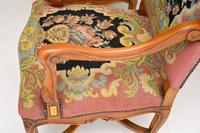 Pair of Antique Carolean Style Needlepoint Armchairs (9 of 12)