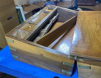 Victorian Brass-bound Walnut Writing Slope with Secret Drawers (21 of 39)