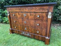 French Empire Commode in Flame Mahogany (3 of 10)