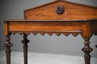 Antique Victorian Oak Hall Table (4 of 11)