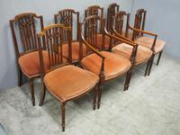 Set of 8 Hepplewhite Style Dining Chairs (8 of 11)