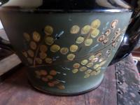 Jackfield Tea Pot. Clean--possibly a Cabinet item and not used. Nicely Decorated. (5 of 5)