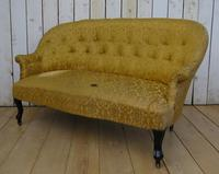 Antique French Button Back Sofa for Re-upholstery (5 of 8)
