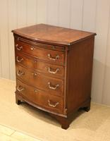 Mahogany Bow Front Chest of Drawers c.1920 (10 of 11)