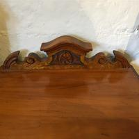 Antique Edwardian Satinwood Bedside Table Night Stand (7 of 7)