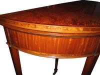 Fine Quality Edwardian Inlaid Satinwood Card Table c.1900 (3 of 4)
