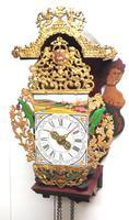 Wow! Antique 18th Century Dutch Stoelklok Wall Clock Verge Wall Clock (9 of 12)