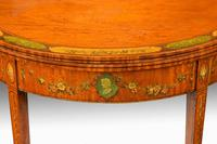 George III Period Demilune Satinwood Card Table (2 of 7)