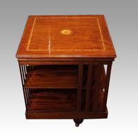 Edwardian Inlaid Revolving Bookcase (4 of 5)
