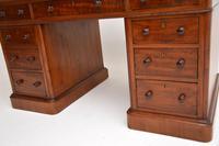 Antique Victorian Mahogany Leather Top Pedestal Desk (6 of 12)