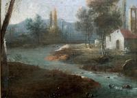 **Near Inverary** 18th Century Thomas Gainsborough Period Landscape Oil Painting (6 of 13)