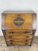 Mid 20th Century Art Deco Style Oak Bureau (11 of 15)