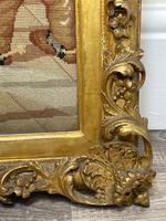 """Large Artwork Gilt Gesso Framed 19th Century Tapestry French Royal Court """"Playing Chess"""" (5 of 44)"""
