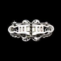 Art Deco Paste Sterling Silver Detachable Dress Clips & Brooch (4 of 9)