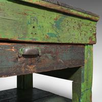 Large Antique Industrial Mill Table, English, Pine, Kitchen Island, Victorian (11 of 12)