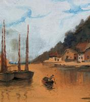 Wonderful Original 19th Century Antique Seascape Landscape Watercolour Painting (7 of 12)