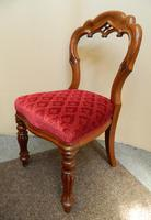 set of 8 mahogany dining chairs (5 of 7)