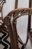 Set of 6 Antique Edwardian Mahogany Chippendale Chairs (11 of 15)