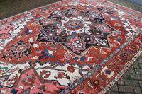 Fine Antique Heriz Room-size Carpet 389x283cm (6 of 11)