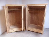 Quality Pair of Antique Pine Traditional Knockdown Wardrobes to wax / paint (9 of 11)