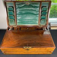 Regency Brass Bound Rosewood Campaign Writing Slope by John Walker (5 of 5)