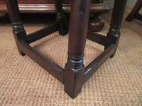George I Period Antique Oak Joint Stool (3 of 7)