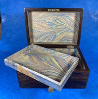 Victorian Rosewood Jewellery Box with Mother of Pearl & Abalone Escutcheons (10 of 14)
