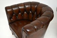 Pair of Antique Swedish Leather Chesterfield Armchairs (9 of 12)