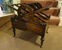 Fine Regency Rosewood Canterbury / Magazine Rack (3 of 5)