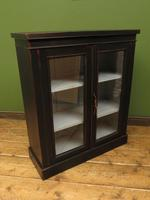 Antique Black Display Cabinet Bookcase, Alcove Cabinet, Gothic Shabby Chic (17 of 17)
