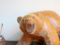 1950s Japanese Wooden Bear Sculpture (4 of 5)