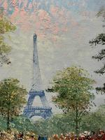Lovely Pair of Original 20th Century French Parisian Gouache Cityscape Paintings (15 of 19)