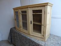 Antique Wall Hanging Kitchen / Bathroom Pine Cabinet to wax / paint