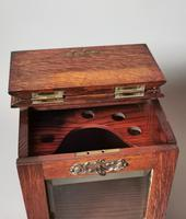 Antique Victorian Oak Smokers Cabinet (9 of 12)