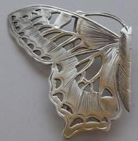 Rare Art Nouveau 1900 Hallmarked Silver Nurses Belt Buckle Butterfly Design (3 of 10)