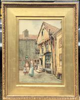 Arthur Netherwood Watercolour 'North East England Street Scene Possibly North Shields (2 of 2)