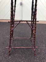 Unusual Walnut & Bamboo Table (3 of 6)