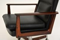 Danish Rosewood & Leather Desk Chair by Arne Vodder (11 of 13)