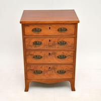 Small Antique George III Mahogany Chest of Drawers (2 of 8)