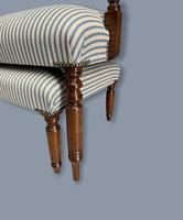 Regency Occasional Sofa with Footstool (3 of 9)