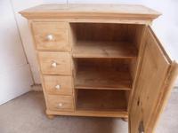 Victorian Antique Pine 4 Drawer Kitchen Food Storage Cupboard to wax / paint (11 of 11)