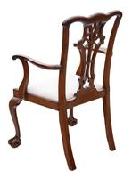 Set of 8 (6+2) mahogany dining chairs Georgian revival C1910 (3 of 11)
