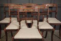 Set of 6 Regency Brass Inlaid Dining Chairs (3 of 16)