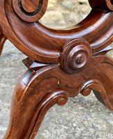 Victorian Mahogany X-Frame Stool (10 of 15)